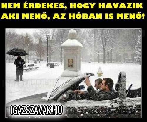 Aki menő, az a hóban is menő