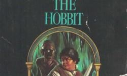 A Hobbit, a könyv borítója  a 80-as évekből