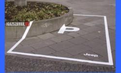 Kreatív parkoló terepjáróknak