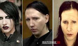 Marilyn Manson smink nélkül