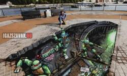 Tini nindzsa teknőcök 3D utcarajz