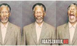 Morgan Freeman egy fotófülkében