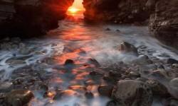 Gyönyörű naplemente Írországban