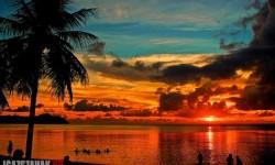 Gyönyörű naplemente Guam
