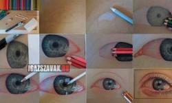 Elképesztő ceruzarajz: könnyes szem