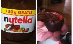 Nutellával töltött csokis eper