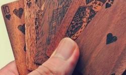 Francia kártya fából