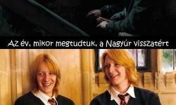 A történet a Weasley ikrek szemszögéből