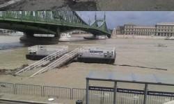 Így árad a Duna Magyarországon