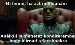 Konditerem és a facebook