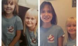 Én és a testvérem 1984-ben, és a lányaim most