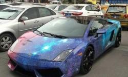 Lamborghini Gallardo egy kicsit űrbéli köntösben