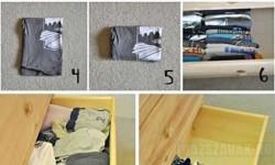 Egy egyszerű trükk: így takaríts meg helyet a fiókodban