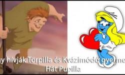 Hogy hívják Törpilla és Kvázimódó gyermekét?