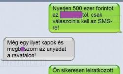 SMS nyereményjáték – Sikeres leiratkozás