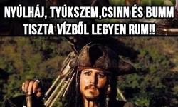 Vízből legyen rum!