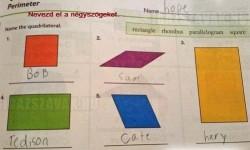 Nevezd el a négyszögeket!